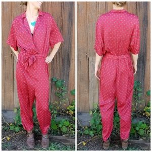 Urban Outfitters | surplice neck jumpsuit